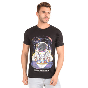 Planet Bowl Half Sleeve T-Shirt - Ribbons and Mustache