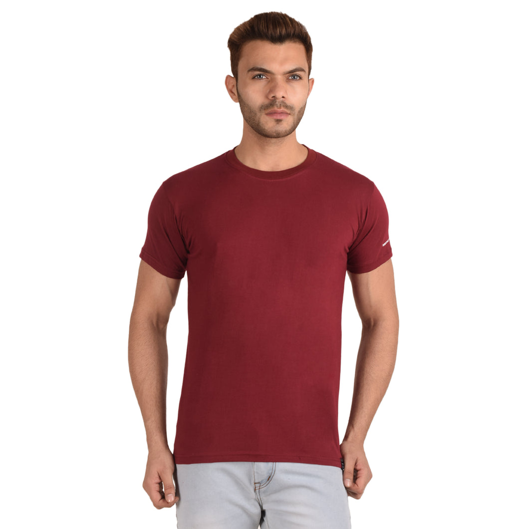 Maroon Half Sleeve T-Shirt - Ribbons and Mustache