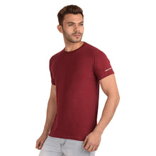 Load image into Gallery viewer, Maroon Half Sleeve T-Shirt - Ribbons and Mustache