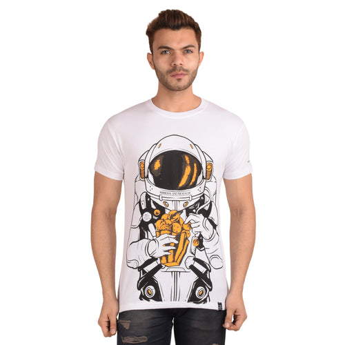 Popcorn Burst Half Sleeve T-Shirt - Ribbons and Mustache
