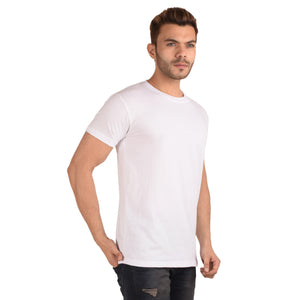 White Half Sleeve T-Shirt - Ribbons and Mustache