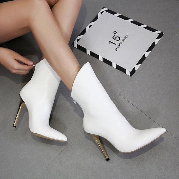 Fashionable High-Heeled Pointed Female Boots