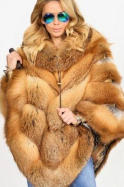 Faux Fox Fur Ponchos