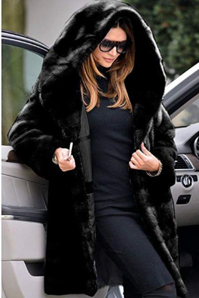 Winter Hooded Fur Jacket