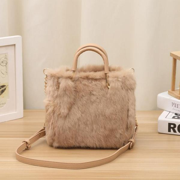 Faux Rabbit Fur Shoulder Bag