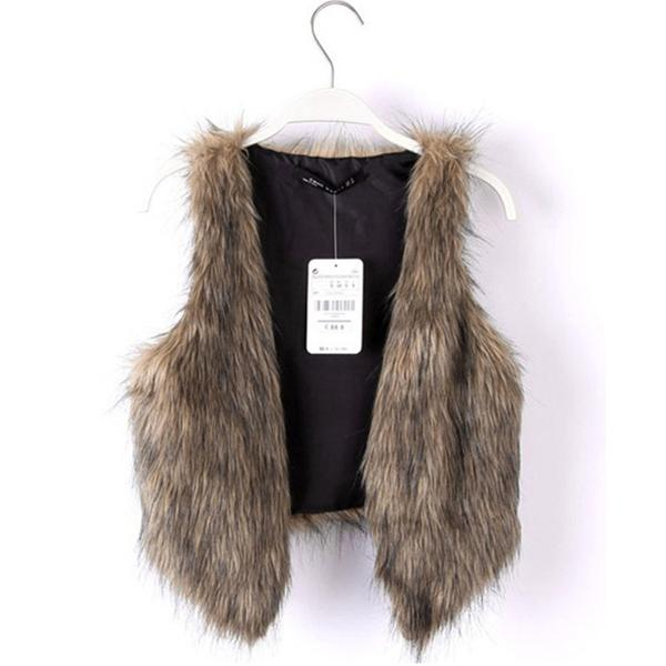 Short Fashion Faux Fur Vest