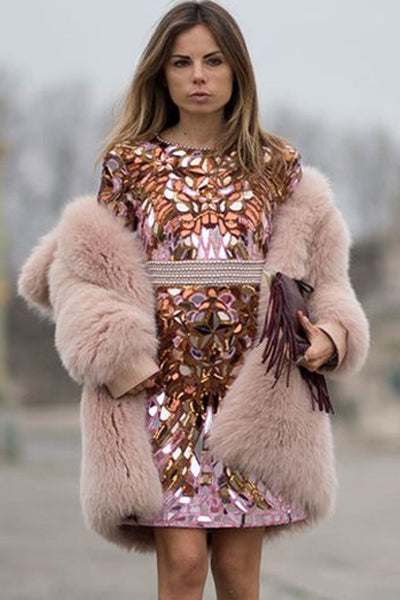 Pink Soft Faux Fur Coat