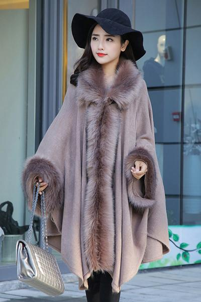 Medium Long Imitation Mink Fur Coat