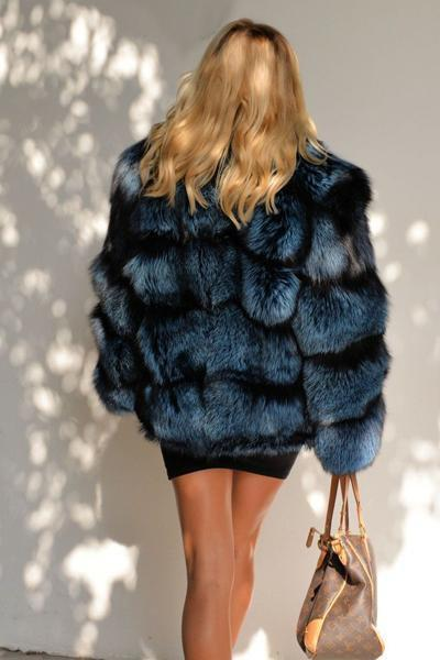 Silver Fox Faux Fur Coat