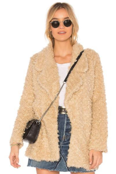 Fashion And Elegant Shag Coat