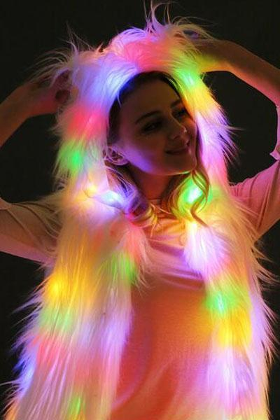 LED Fashion Hooded Vest Jacket