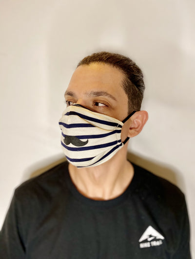 Nautical Mustache Face Mask Adult