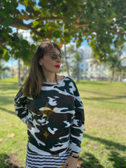 My Star Camo Printed Sweatshirt Women