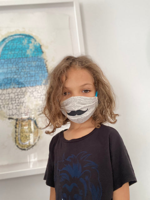 Mustache Kids Face Mask