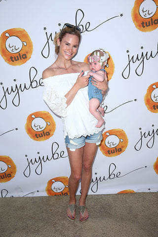 People.com - Beach Babies! Christy Carlson Romano, Meghan King Edmonds and More Take Their Kids to Ju-Ju-Be and Baby Tula Launch Event