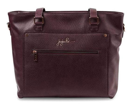 Plum purple vegan leather tote from JuJuBe's structure tote collection