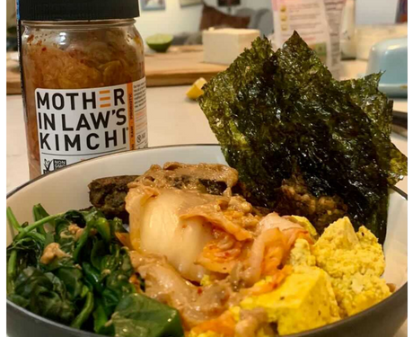 Kelp Burger Recipes: Kimchi Kelp Burger Bowl by AKUA and Mother in Law's