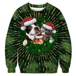 3D Apperal Store Pullovers A103231 / M Unisex Men Women 2019 Ugly Christmas Sweater Vacation Santa Elf Funny Christmas Fake Hair Jumper Autumn Winter Tops Clothing