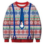3D Apperal Store Pullovers A103239 / M Unisex Men Women 2019 Ugly Christmas Sweater Vacation Santa Elf Funny Christmas Fake Hair Jumper Autumn Winter Tops Clothing