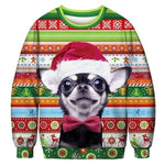 3D Apperal Store Pullovers A103245 / M Unisex Men Women 2019 Ugly Christmas Sweater Vacation Santa Elf Funny Christmas Fake Hair Jumper Autumn Winter Tops Clothing