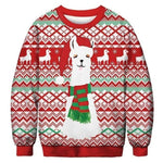 3D Apperal Store Pullovers AA30001 / M Unisex Men Women 2019 Ugly Christmas Sweater Vacation Santa Elf Funny Christmas Fake Hair Jumper Autumn Winter Tops Clothing