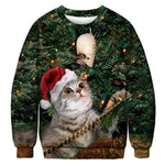 3D Apperal Store Pullovers AA30003 / M Unisex Men Women 2019 Ugly Christmas Sweater Vacation Santa Elf Funny Christmas Fake Hair Jumper Autumn Winter Tops Clothing