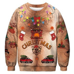 3D Apperal Store Pullovers AA30005 / M Unisex Men Women 2019 Ugly Christmas Sweater Vacation Santa Elf Funny Christmas Fake Hair Jumper Autumn Winter Tops Clothing
