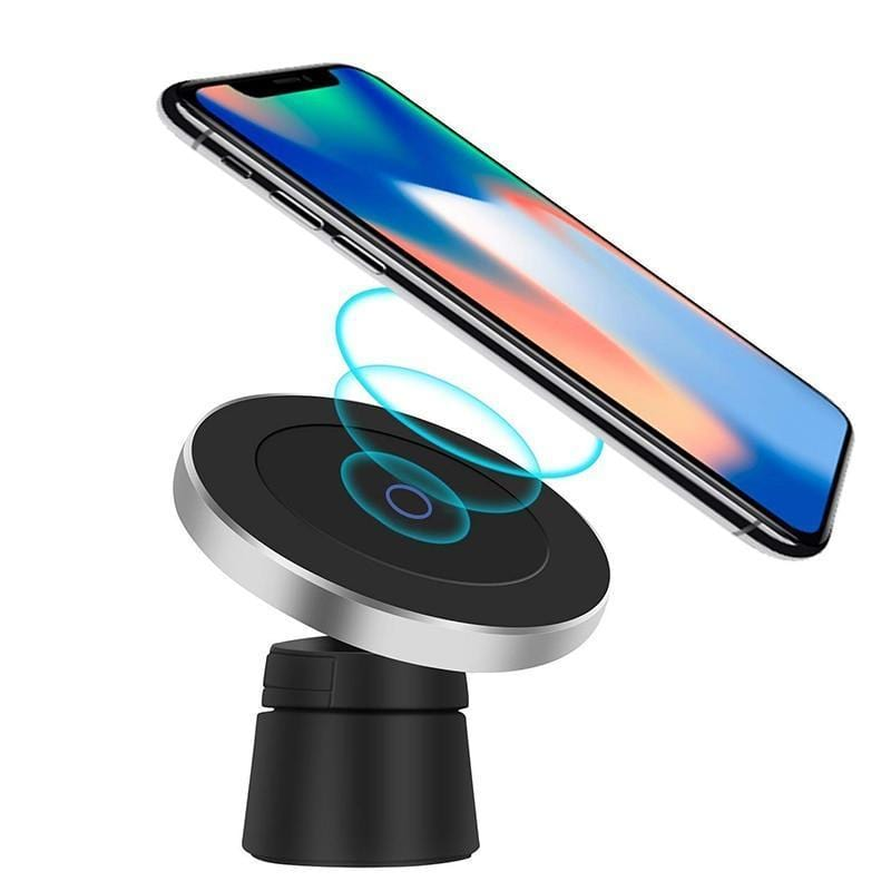 BONOLA Store Car Chargers Black Qi Wireless Car Charger Magnetic Phone Holder