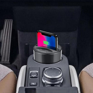 BONOLA Store Mobile Phone Chargers Black Fast Wireless Car Charger Cup