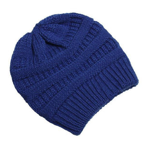 Clothing to You Skullies & Beanies Blue With Tag FunkyCC™ Ponytail Beanie