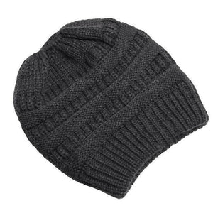 Clothing to You Skullies & Beanies Dark Grey With Tag FunkyCC™ Ponytail Beanie
