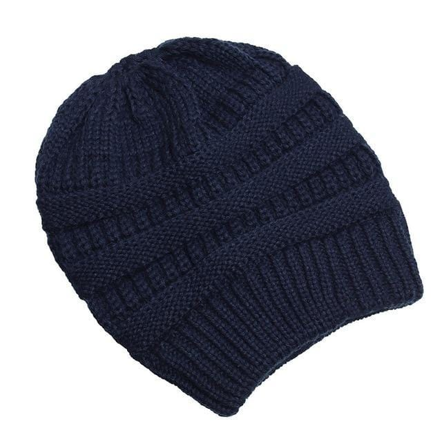 Clothing to You Skullies & Beanies Navy With Tag FunkyCC™ Ponytail Beanie