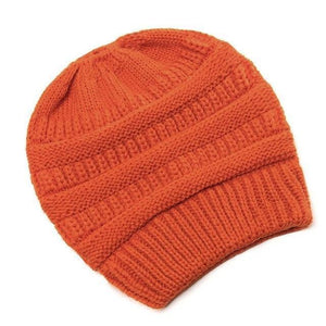 Clothing to You Skullies & Beanies Orange With Tag FunkyCC™ Ponytail Beanie