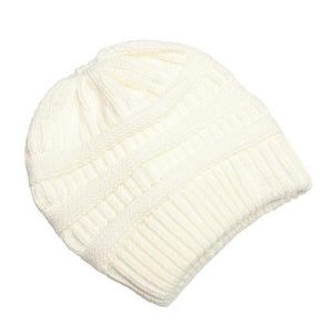 Clothing to You Skullies & Beanies White With Tag FunkyCC™ Ponytail Beanie