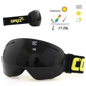 copozz Official Store Skiing Eyewear All Black CPZ™ Anti-fog UV400 Ski Goggles