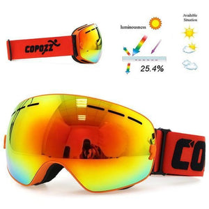 copozz Official Store Skiing Eyewear Frame Orange CPZ™ Anti-fog UV400 Ski Goggles