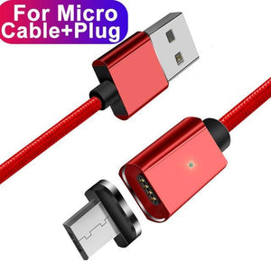 ESSAGER Official Store Mobile Phone Cables Red Micro Cable / 100cm Magnetic USB Fast Charging Cable