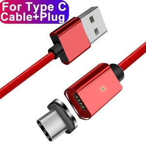 ESSAGER Official Store Mobile Phone Cables Red Type C Cable / 100cm Magnetic USB Fast Charging Cable