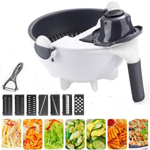 Foxsmarts 9 in 1 Multifunction Vegetable Cutter with Drain Basket