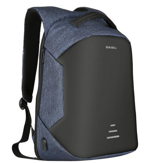 Foxsmarts Anti Theft Backpack Blue BAIBU™ Anti Theft Water Resistant Backpack