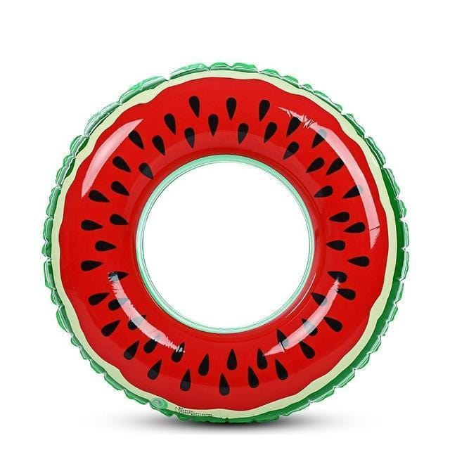 Foxsmarts Pool Float 24' ( 60CM ) SunFun™ Watermelon Ring Inflatable Pool Float
