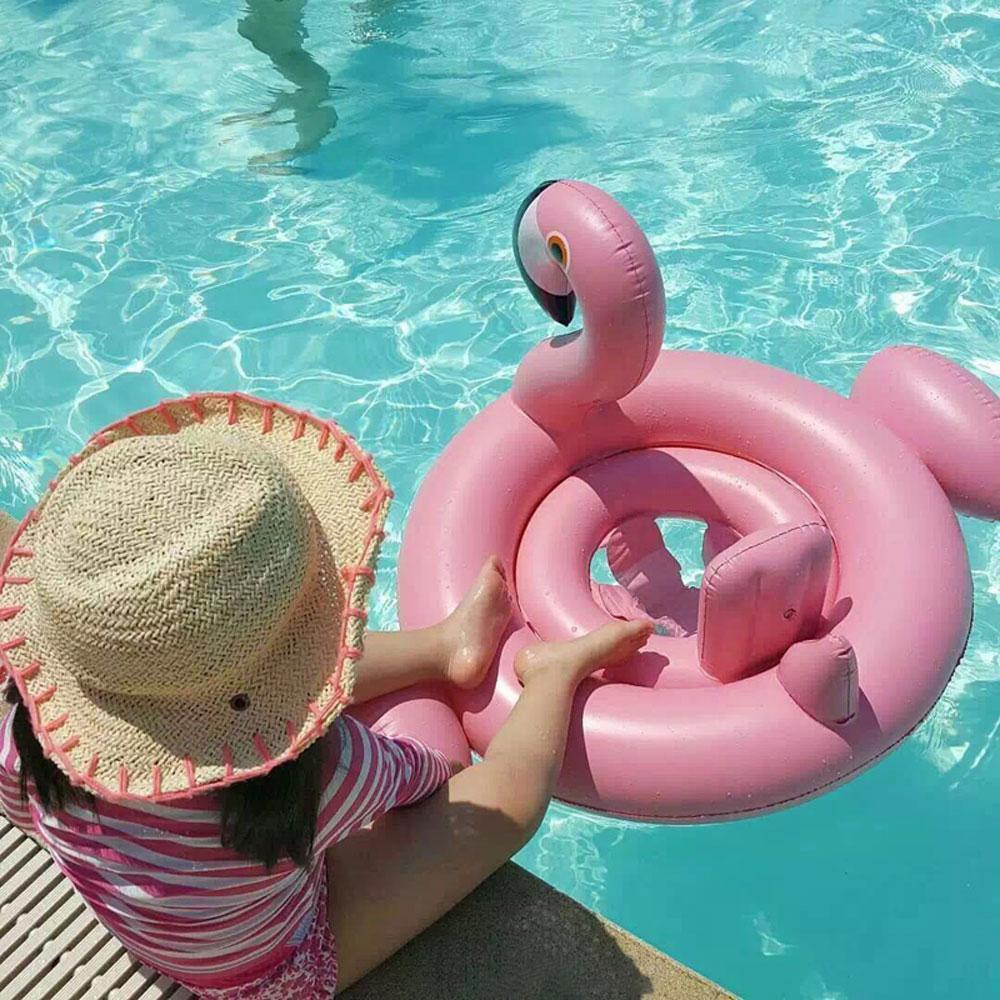 Foxsmarts Pool Float Flamingo HappyBird™ Inflatable Pool Float For Kids