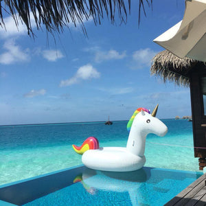Foxsmarts Pool Float SunFun™ Giant Unicorn Inflatable Pool Float