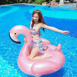 Foxsmarts SunFun™ Rose Gold Inflatable Flamingo Pool Float