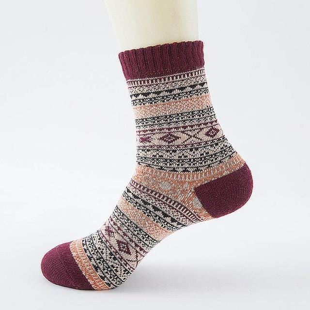 Ice-Rain-Water Store Socks 12 Christmas Wool Socks