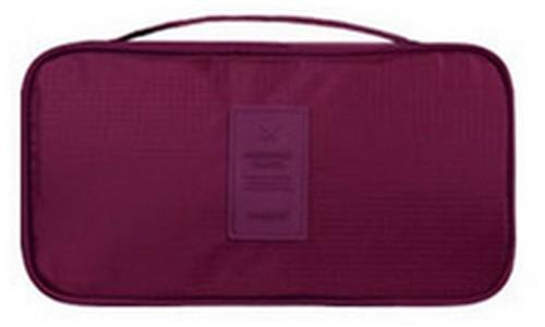 IHAD Official Store Storage Bags Burgundy Lingerie Organizer Travel Bag