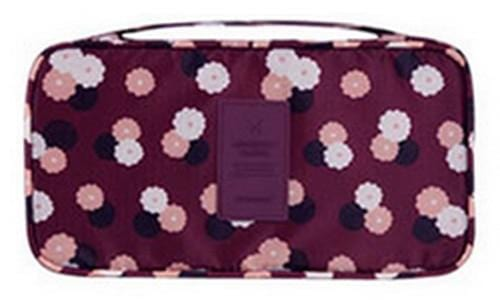 IHAD Official Store Storage Bags Purple flower Lingerie Organizer Travel Bag