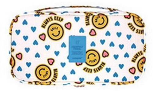 IHAD Official Store Storage Bags Smiling yellow Lingerie Organizer Travel Bag