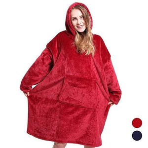 JAGDAMBE Official Store Blankets Red / One Size For All Oversized Comfy Blanket Hoodie