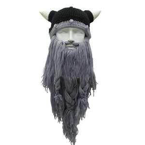 Mr.Kooky Official Store Skullies & Beanies Light Gray Beard The Legendary™ Viking Beard Beanie